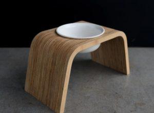 modern dog bowl stand