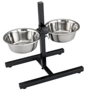 1. Top Paw® Adjustable Double Diner Dog Stand with Bowls