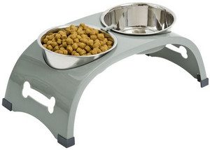 2. Top Paw® Elevated Arch Double Dog Feeder