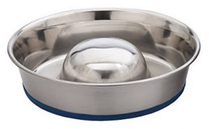 OurPets DuraPet Slow Feed Premium Stainless Steel Dog Bowl - Dog Bowls