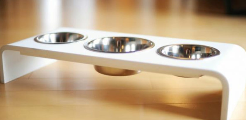 Triple Bowl Dog Feeder