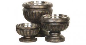 single raised dog bowl stand