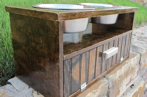 elevated dog food bowls