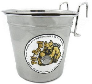 Pit-Bowl Dog Crate Water Bowl