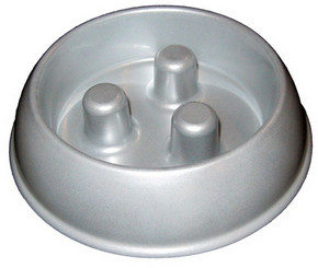 Metal Brake-Fast Dog Food Bowl